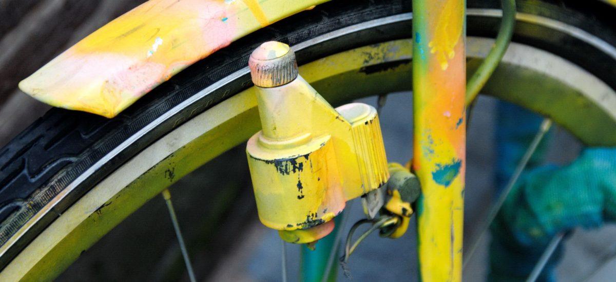 Orangenes Fahrrad in Amsterdam - Detail - Foto: © Katharina Hansen-Gluschitz